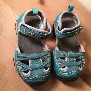 Northside water shoes teal toddler sandals size 5